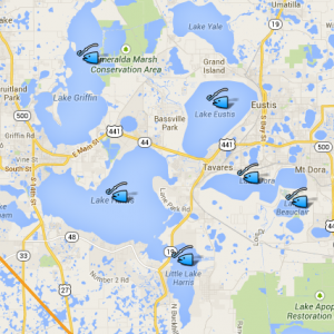Lake County And Sumter County Fishing Fun Lake Kids - Map of florida lakes